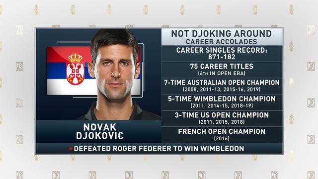 Jim Rome gives his take on the close match between Novak Djokovic and Roger Federer in the 2019 Wimbledon finals.