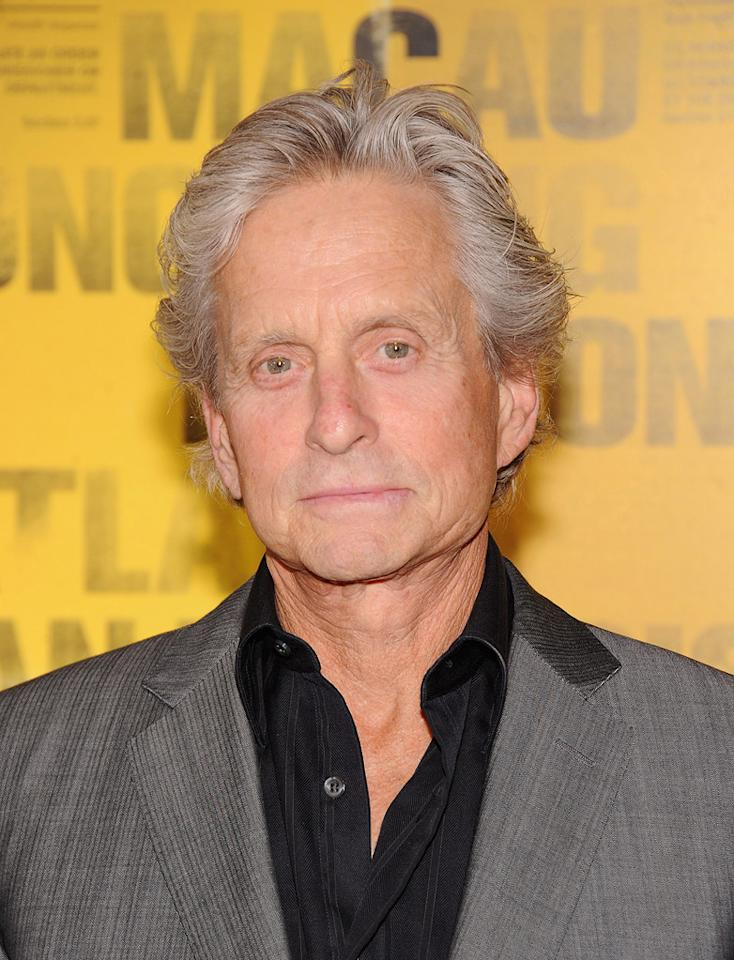 """<a href=""""http://movies.yahoo.com/movie/contributor/1800012782"""">Michael Douglas</a> at the New York City premiere of <a href=""""http://movies.yahoo.com/movie/1810161340/info"""">Contagion</a> on September 7, 2011."""