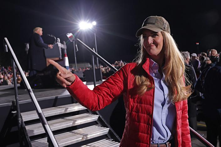 <p>Kelly Loeffler on Monday after a Donald Trump rally.</p> (AFP Getty)