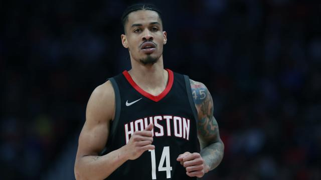 Houston Rockets guard Gerald Green runs up court during the second half of an NBA basketball game against the Detroit Pistons, Saturday, Jan. 6, 2018, in Detroit. (AP)