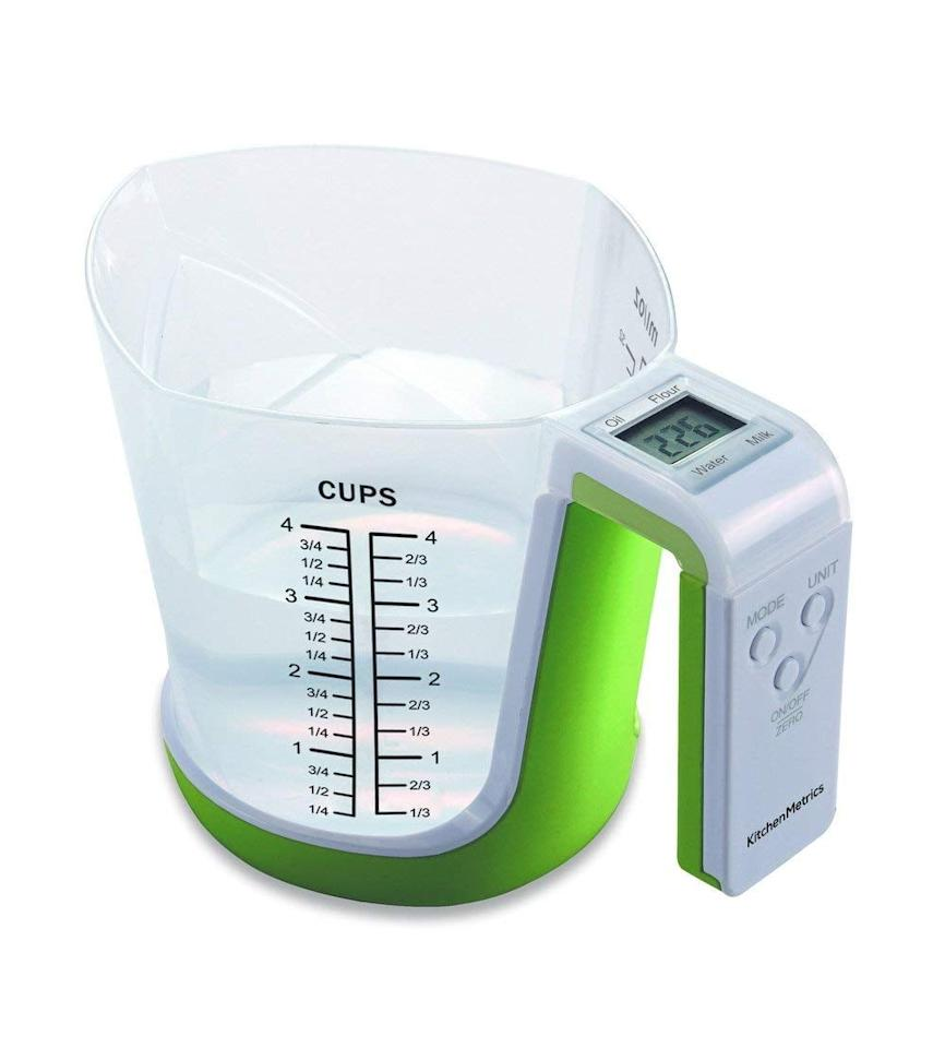 "<p>You'll never misread a measurement again with this handy <product href=""https://www.amazon.com/Digital-Kitchen-Food-Scale-Measuring/dp/B06Y3BFHJL/ref=sr_1_2_sspa?s=home-garden&amp;ie=UTF8&amp;qid=1546630676&amp;sr=1-2-spons&amp;keywords=digital+measuring+cup&amp;psc=1"" target=""_blank"" class=""ga-track"" data-ga-category=""Related"" data-ga-label=""https://www.amazon.com/Digital-Kitchen-Food-Scale-Measuring/dp/B06Y3BFHJL/ref=sr_1_2_sspa?s=home-garden&amp;ie=UTF8&amp;qid=1546630676&amp;sr=1-2-spons&amp;keywords=digital+measuring+cup&amp;psc=1"" data-ga-action=""In-Line Links"">Digital Kitchen Food Scale and Measuring Cup</product> ($25).</p>"