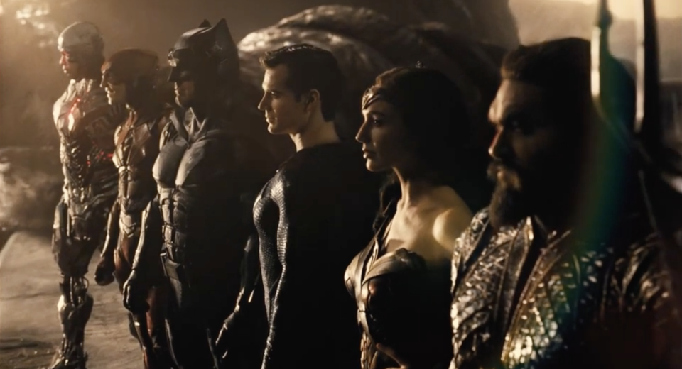 The Justice League line up in Zack Snyder's HBO Max cut. (Credit: Warner Bros/HBO Max)