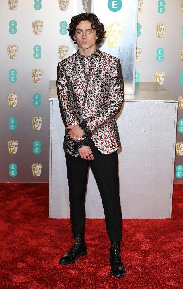 Timothee Chalamet at BAFTAS