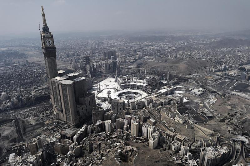 An aerial view shows the holy city of Mecca on October 5, 2014