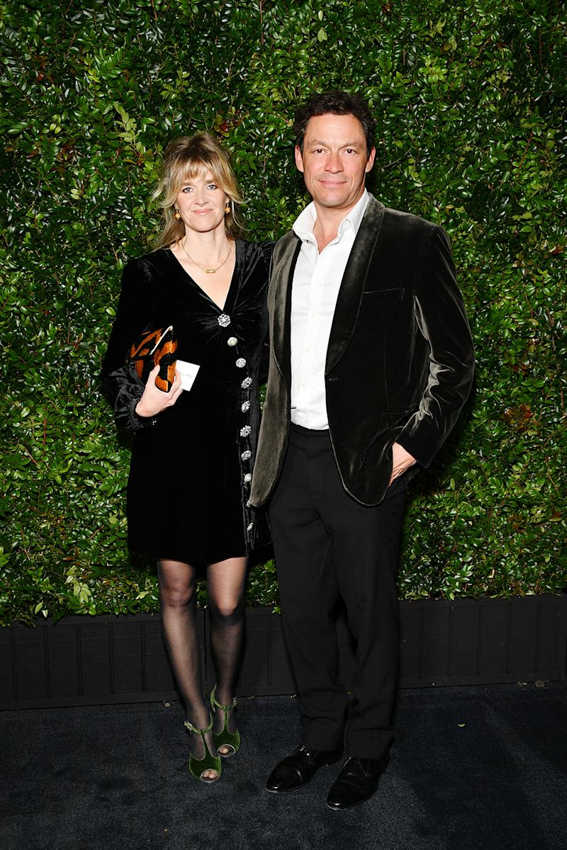 Dominic West and Catherine Fitzgerald pose on the red carpet