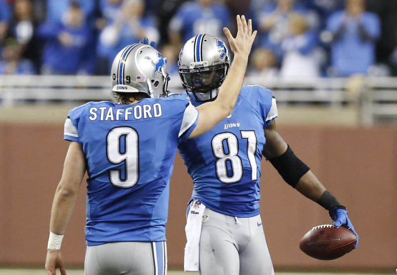Matthew Stafford's numbers have improved since the retirement of Calvin Johnson. (AP)