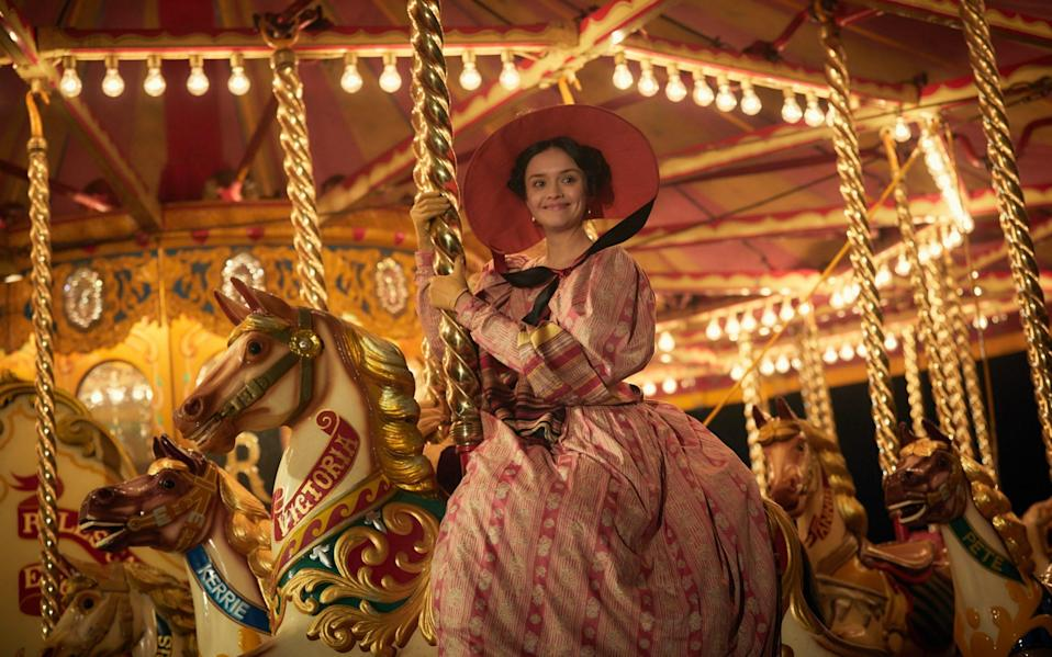 Olivia Cooke As Becky Sharp in ITV's Vanity Fair, the novel inspired by the life of the 'Duchess Countess', Elizabeth Chudleigh