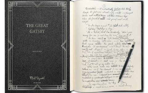 The Great Gatsby manuscript