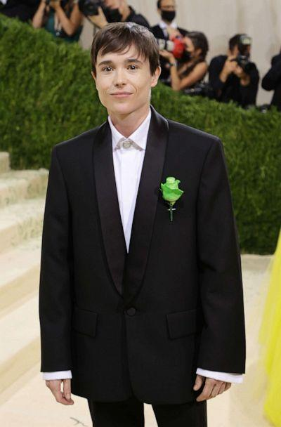 PHOTO: Elliot Page attends The 2021 Met Gala Celebrating In America: A Lexicon Of Fashion at Metropolitan Museum of Art on Sept. 13, 2021, in New York City. (Mike Coppola/Getty Images)