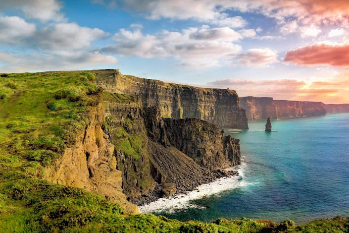 The Cliffs of Moher in County Clare are Ireland's most visited natural attraction.