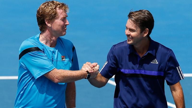 Mark Woodforde and Todd Woodbridge are pictured at the 2016 Australian Open.