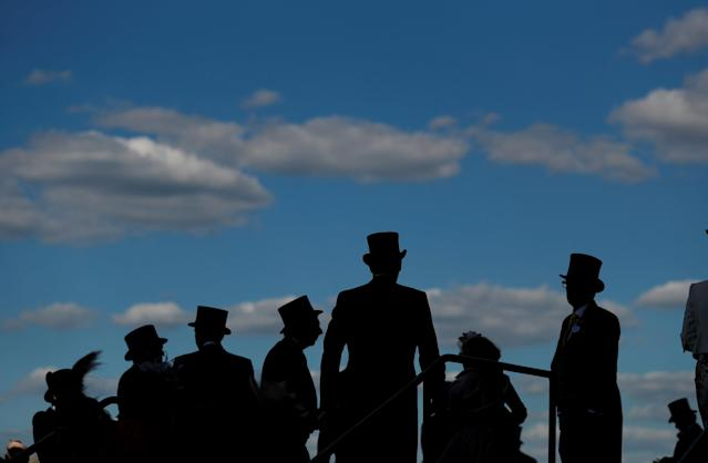 Horse Racing - Royal Ascot - Ascot Racecourse, Ascot, Britain - June 21, 2018 Silhouette of racegoers in the stands Action Images via Reuters/Andrew Boyers TPX IMAGES OF THE DAY