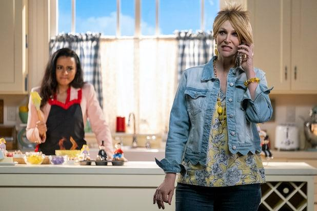 "Jane Lynch in ""Sarah Cooper: Everything's Fine"""