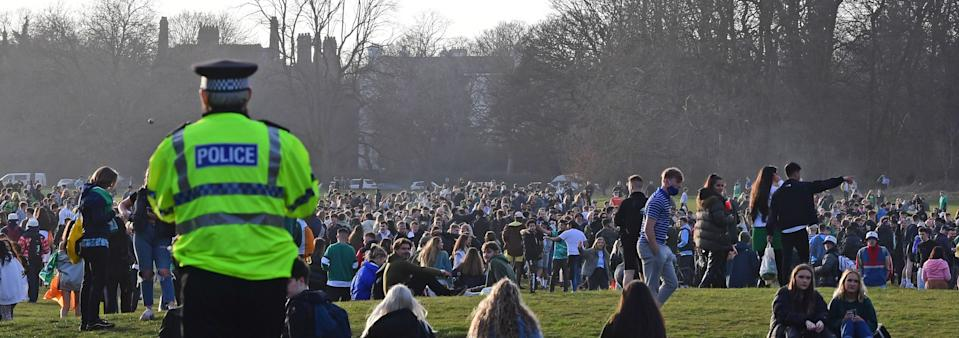 St Patrick's Day crowds in Sefton Park, Liverpool. Credit: Liverpool Echo