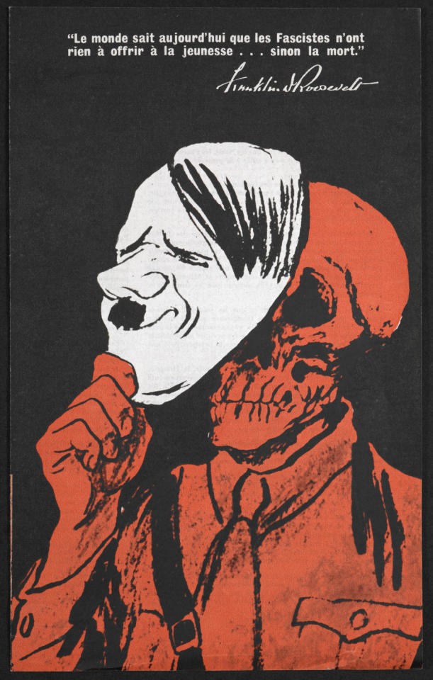 Roosevelt's message to young American during World War Two was that 'Fascists offer nothing to young people... but death' (British Library/Office of War Information)