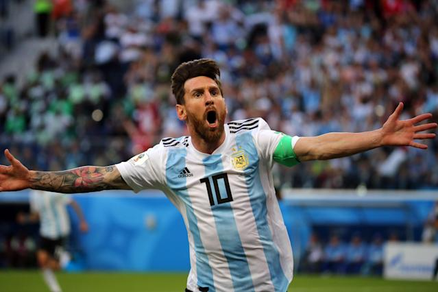 Magic moment: Messi's great goal helped save Argentina