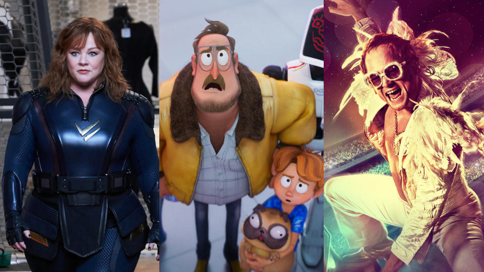'Thunder Force', 'The Mitchells vs. The Machines' and 'Rocketman'. (Credit: Hopper Stone/Netflix/Paramount)