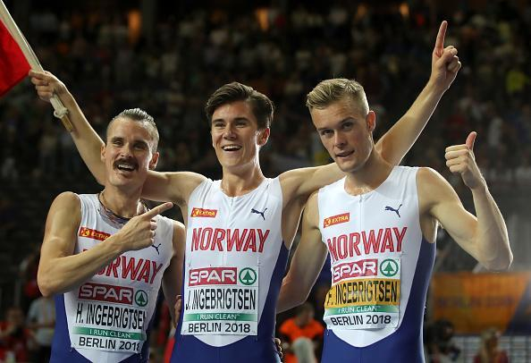Ingebrigtsen brothers Henrik, Jakob, and Filip continued to dominate the European track scene this weekend. (Getty Images)