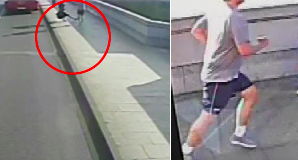 <em>The woman was seemingly pushed into the road by the jogger (Met Police)</em>