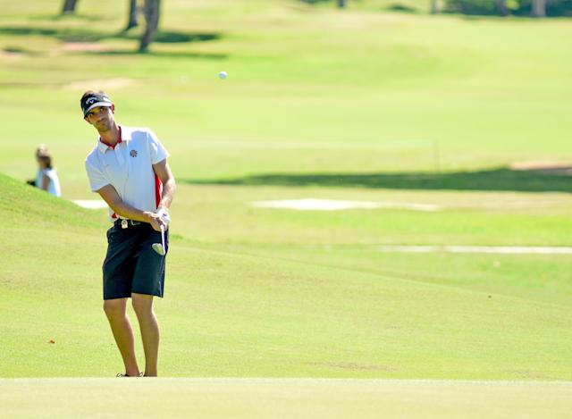 """<div class=""""caption""""> Barco struggled at times in the third round, but remains just one stroke off the lead after shooting a one-under 71. </div> <cite class=""""credit"""">Enrique Berardi/LAAC</cite>"""
