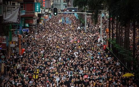 Thousands of pro-democracy protesters have been taking to the streets of Hong Kong - Credit: getty