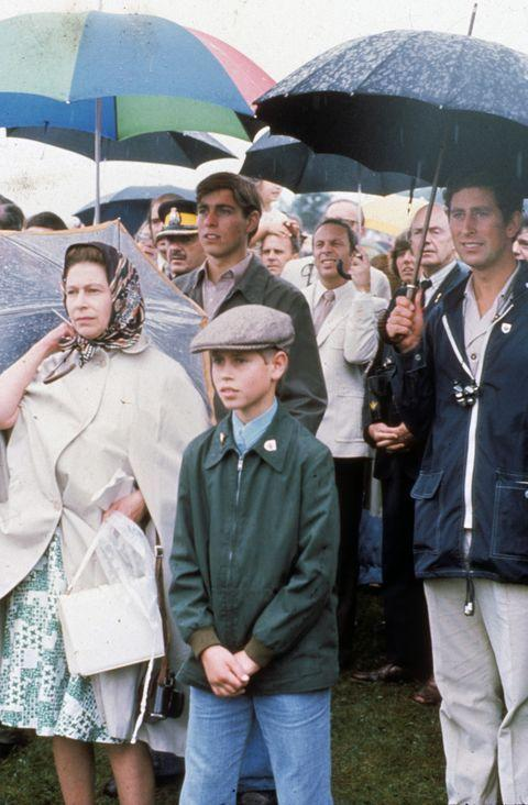 <p>Only some royal family members seem to be concerned about the rain while watching an equestrian event at the Montreal Olympics. <br></p>