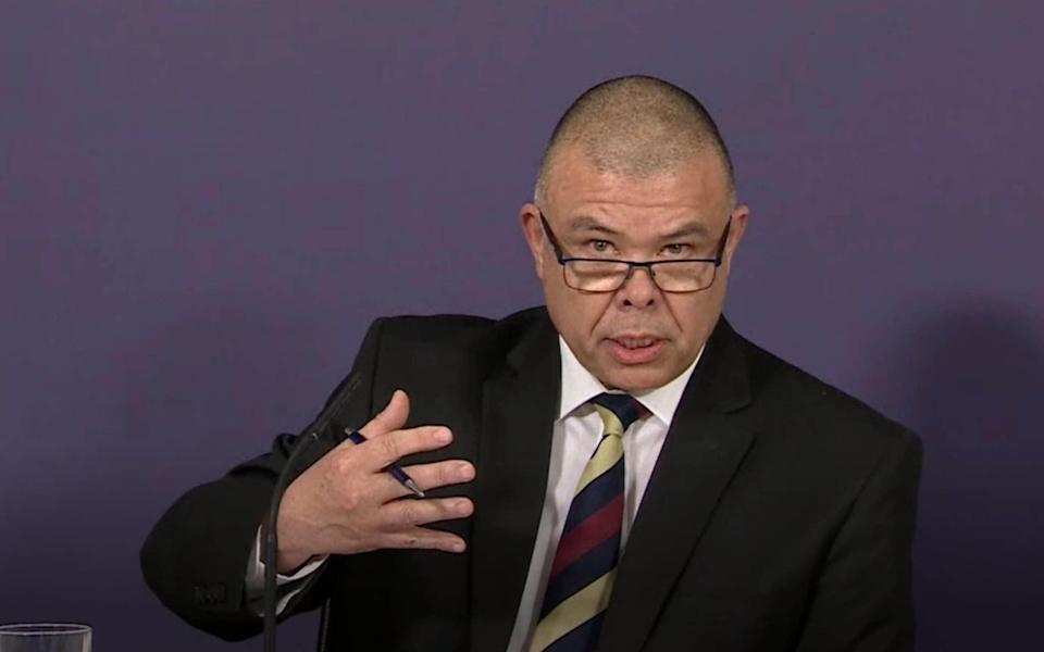 Screen grab of Deputy Chief Medical Officer for England Professor Jonathan Van Tam during a briefing on the AstraZeneca vaccine in London - PA Video/PA Wire