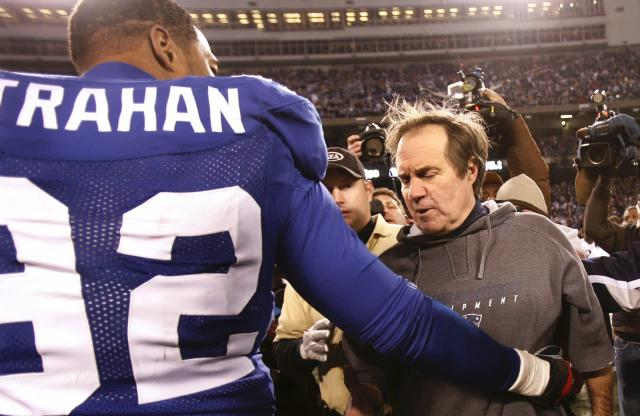 Giants' Michael Strahan, Patriots' Bill Belichick competing for new title: Sports Emmy Award winner