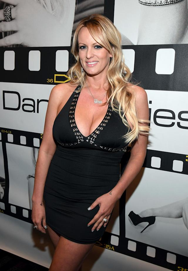 Donald Trump reportedly met Stephanie Clifford, aka Stormy Daniels, at a golf event in 2006. (Photo: Ethan Miller/Getty Images)