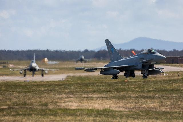 RAF Typhoons on NATO Air policing mission