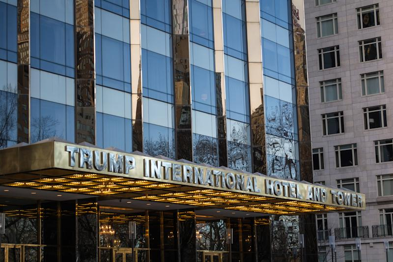 Entrada de Trump International Hotel and Tower, uno de los hoteles donde se detectaron problemas/Getty