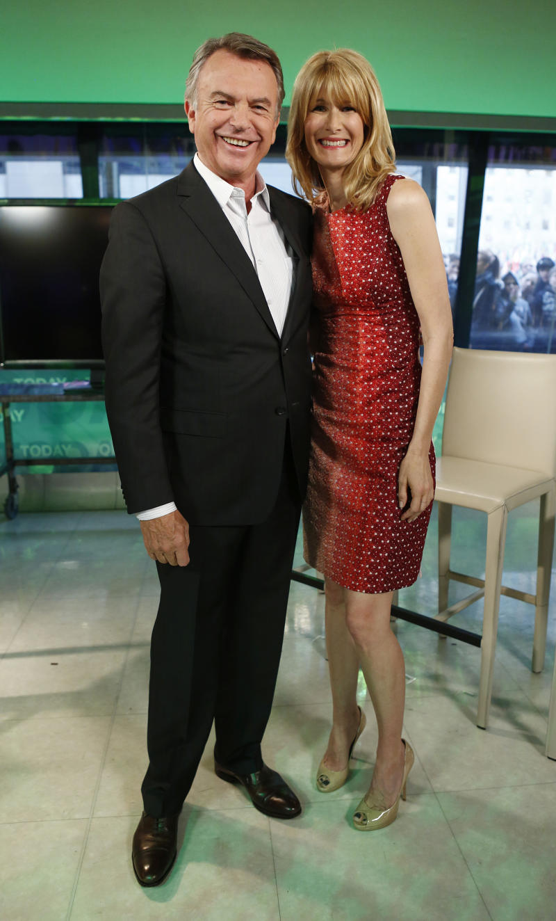 "TODAY -- Pictured (l-r) Actor Sam Neill, actress Laura Dern on NBC News' ""Today"" show on April 2, 2013 -- (Photo By: Peter Kramer/NBC)"
