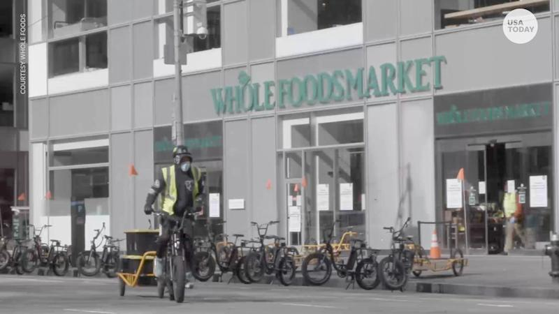 Whole Foods Market is converting several stores to only fulfill online orders for grocery delivery because of the coronavirus pandemic.