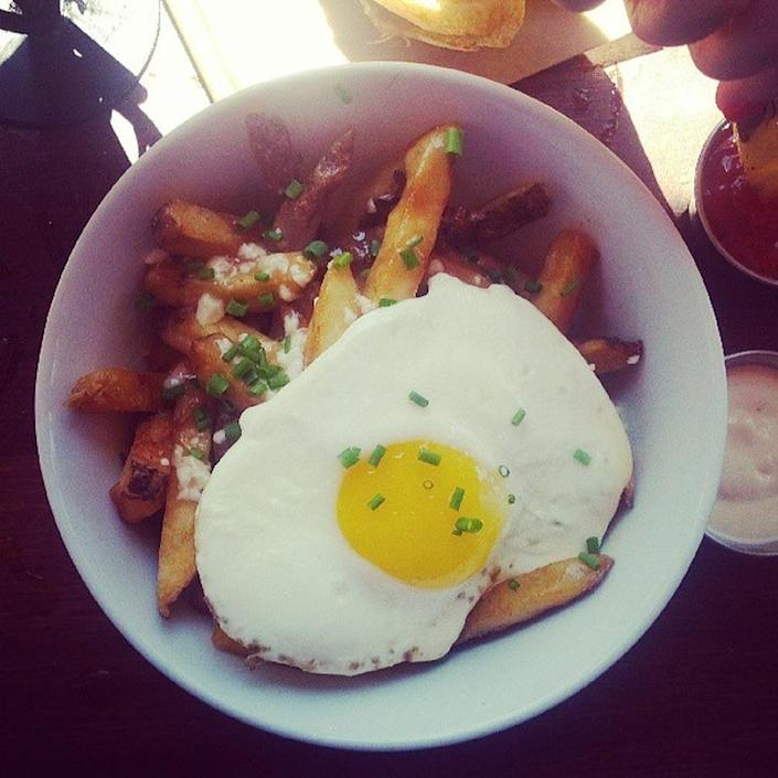 """<p><a href=""""http://duckfat.com/"""" rel=""""nofollow noopener"""" target=""""_blank"""" data-ylk=""""slk:Duckfat"""" class=""""link rapid-noclick-resp"""">Duckfat</a>, Portland</p><p>""""Have been eating here for a decade, still the best fries I've ever had. And the coffee milkshake."""" -Foursquare user <a href=""""https://foursquare.com/rpeckham"""" rel=""""nofollow noopener"""" target=""""_blank"""" data-ylk=""""slk:Robin Peckham"""" class=""""link rapid-noclick-resp"""">Robin Peckham</a></p>"""
