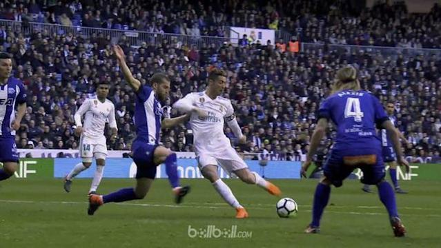 Trio BBC milik Real Madrid mencetak masing-masing satu gol saat menghadapi Alaves. This video is presented by Ballball.