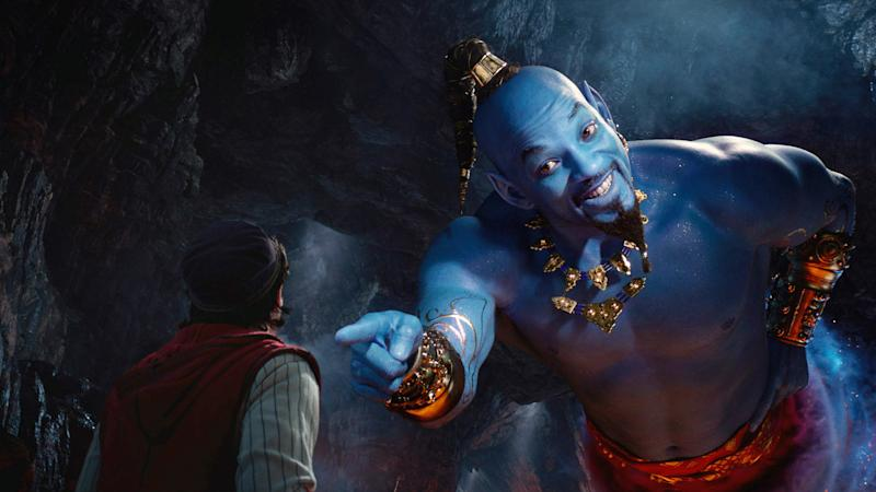 Will Smith's Genie introduces himself to his new pal, Aladdin (Mena Massoud), in the live-action Disney hit 'Aladdin' (Photo: Walt Disney Studios Motion Pictures / courtesy Everett Collection)