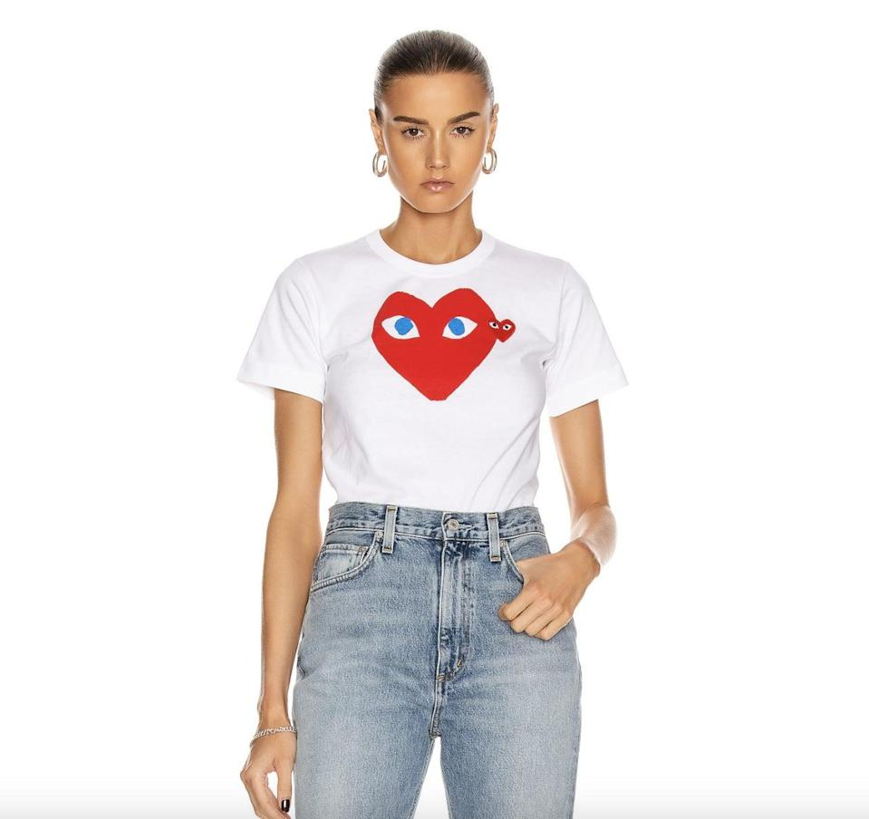 <p>This <span>Comme des Garcons Cotton Red Heart Emblem Tee</span> ($122) is beyond chic.</p>