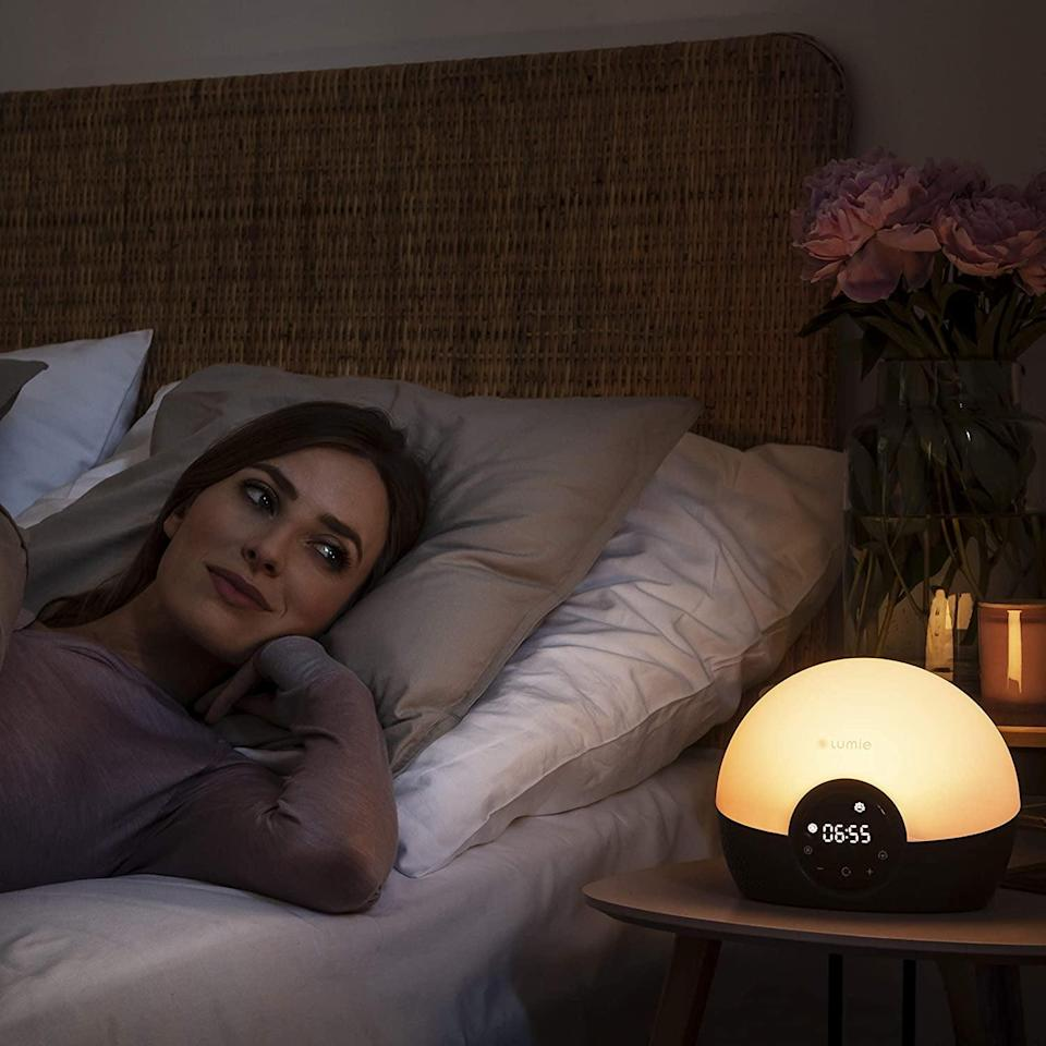 <p>Not a morning person? Get this <span>Lumie Bodyclock Glow 150 Wake-up Light Alarm Clock</span> ($129).</p>