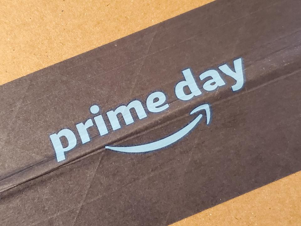 Close-up of logo for 2021's Amazon Prime Day