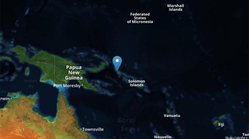 A 7.9 magnitude earthquake has struck between the Solomon Islands and Papua New Guinea.