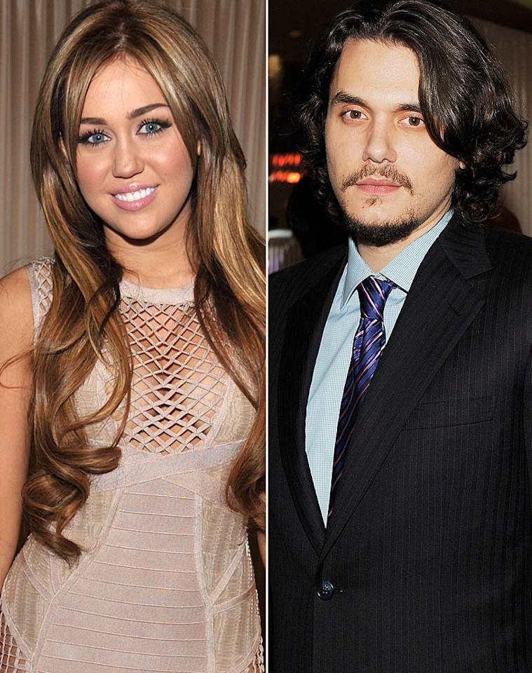 "<i>Star</i> magazine reports that Miley Cyrus and John Mayer are now hooking up. According to the tab, the couple first started to get ""touchy-feely"" during Grammys weekend. Sparks were initially ""ignited"" at a pre-Grammys party when Cyrus ""put her arm around [Mayer's] waist, and even grabbed his behind."" But things got ""even hotter"" at the Grammys, says <i>Star</i>, when Mayer ""leaned over and kissed"" Cyrus backstage. For how hot they've already become, check out what a Cyrus pal leaks to <a href=""http://www.gossipcop.com/miley-cyrus-john-mayer-hooking-up-grammys-backstage-kiss/"" target=""new"">Gossip Cop</a>. Larry Busacca/Getty Images - Lester Cohen/WireImage"