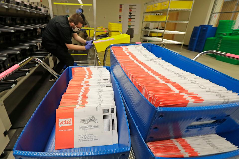A record number of mail-in ballots are expected to be cast in the 2020 election. This could create the prelude to a constitutional crisis. (Photo: ASSOCIATED PRESS)