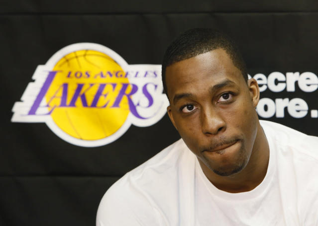 Future Hall of Famer Dwight Howard admitted that he wasn't a good fit on the Lakers during the 2012-13 season. (AP Photo/Damian Dovarganes)