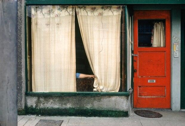 Fred Herzog, Curtains, 1972, Archival pigment print, Courtesy of Equinox Gallery.
