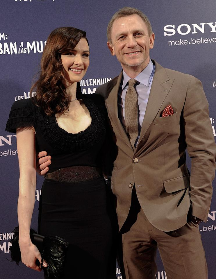 "<a href=""http://movies.yahoo.com/movie/contributor/1800019614"">Rachel Weisz</a> and <a href=""http://movies.yahoo.com/movie/contributor/1800023173"">Daniel Craig</a> at the Madrid premiere of <a href=""http://movies.yahoo.com/movie/1810163569/info"">The Girl With the Dragon Tattoo</a> on January 4, 2012"