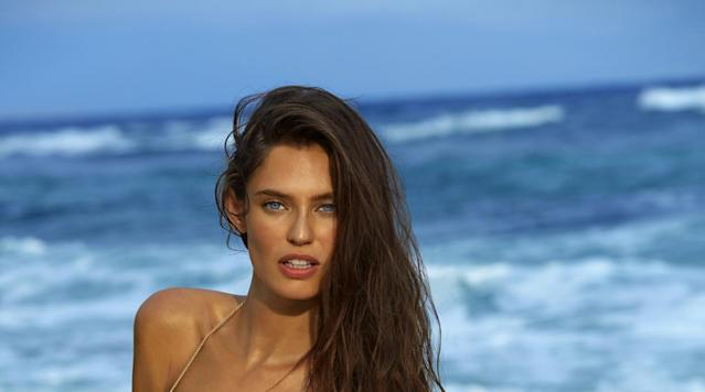 Bianca Balti was photographed by James Macari in Sumba Island. Swimsuit by Sky. Top by Grace Bijoux.