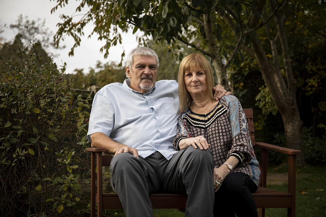 Shirley Hair and her husband, Bob, at their home in Bristol (Picture: SWNS)