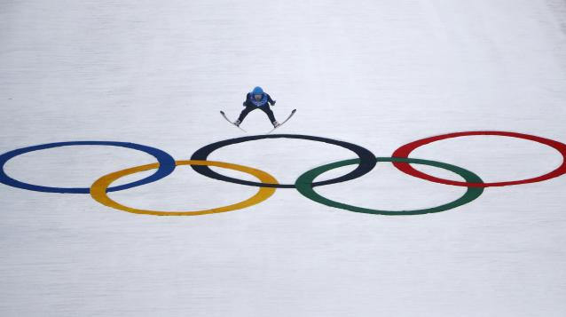 Nordic Combined Events - Pyeongchang 2018 Winter Olympics - Men's Team Gundersen LH Competition - Alpensia Ski Jumping Centre - Pyeongchang, South Korea - February 22, 2018 - Jan Schmid of Norway competes. REUTERS/Dominic Ebenbichler