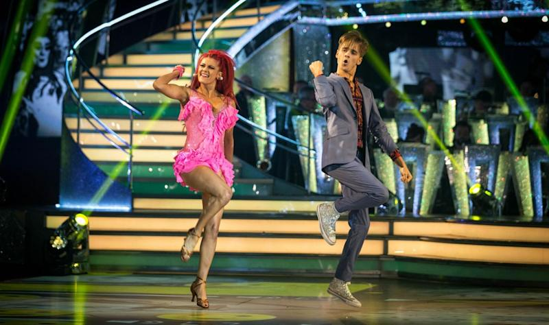 Having fun: Joe Sugg and Dianne Buswell on Strictly (Guy Levy/BBC/PA Wire)