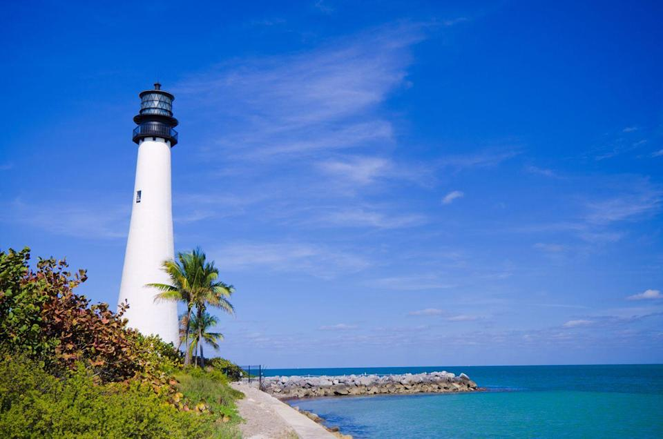 <p>If Miami feels a bit hectic for your South Florida getaway but you want to enjoy the area's iconic beaches, Key Biscayne is just the destination for you. Just across the Rickenbacker Causeway from Miami lies this luxurious barrier island that's home to Bill Baggs Cape Florida State Park where one will discover pristine beaches, a historic 19th-century lighthouse, a variety of outdoor activities, and even a few wildlife sightings—particularly birds. </p>